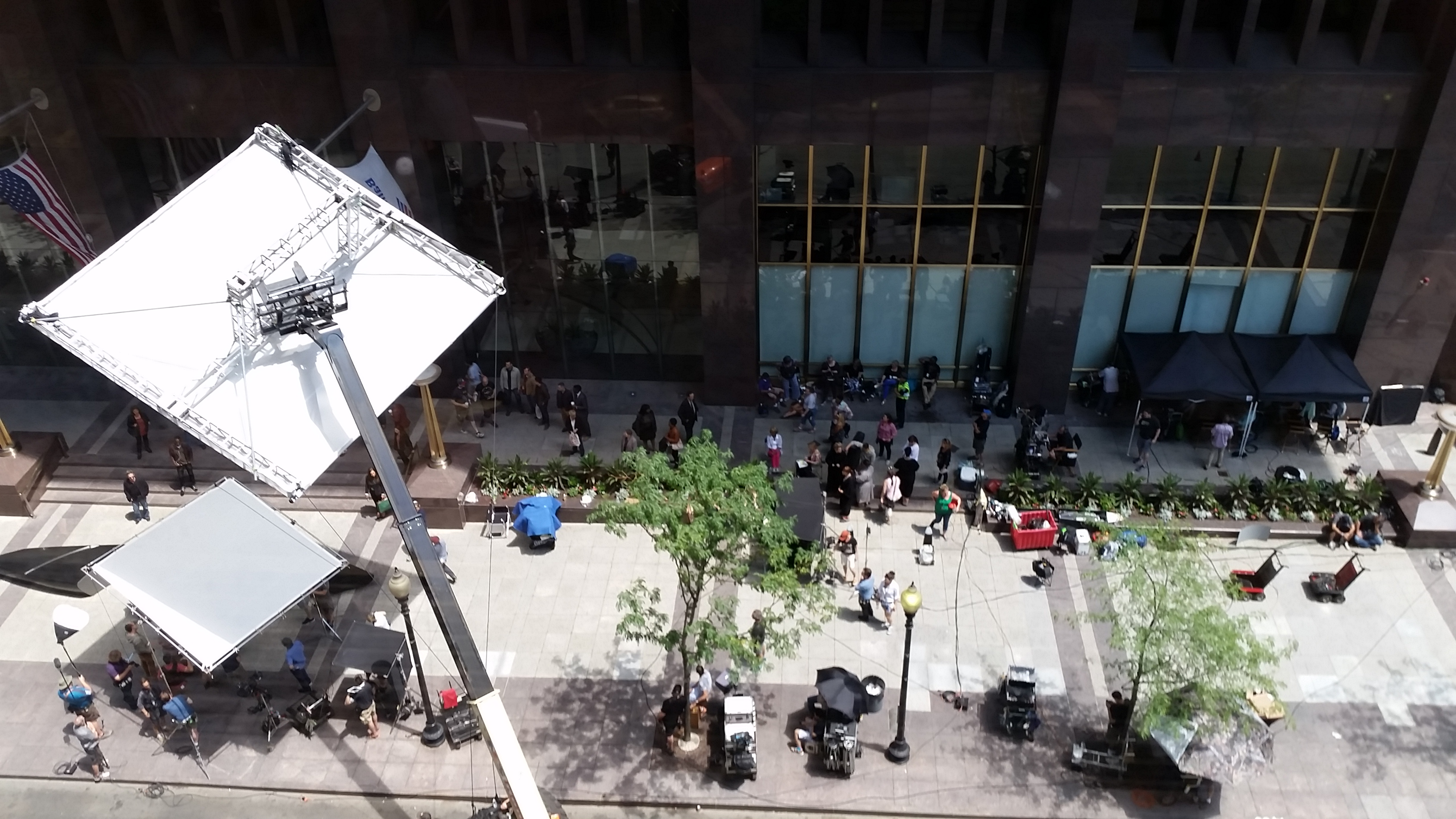 Film crews take over the streets of Boston for the filming of